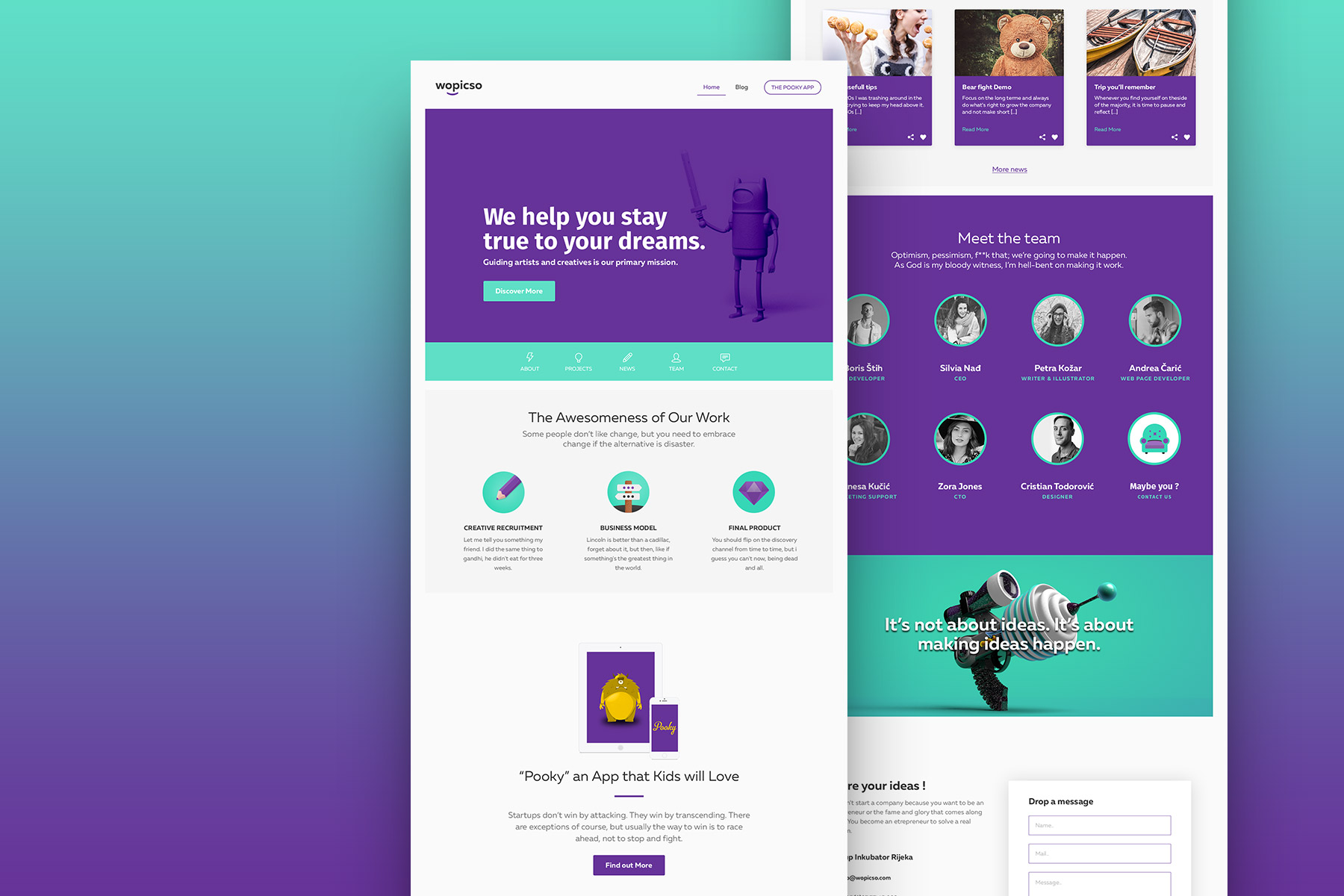 Wopicso Web Design project